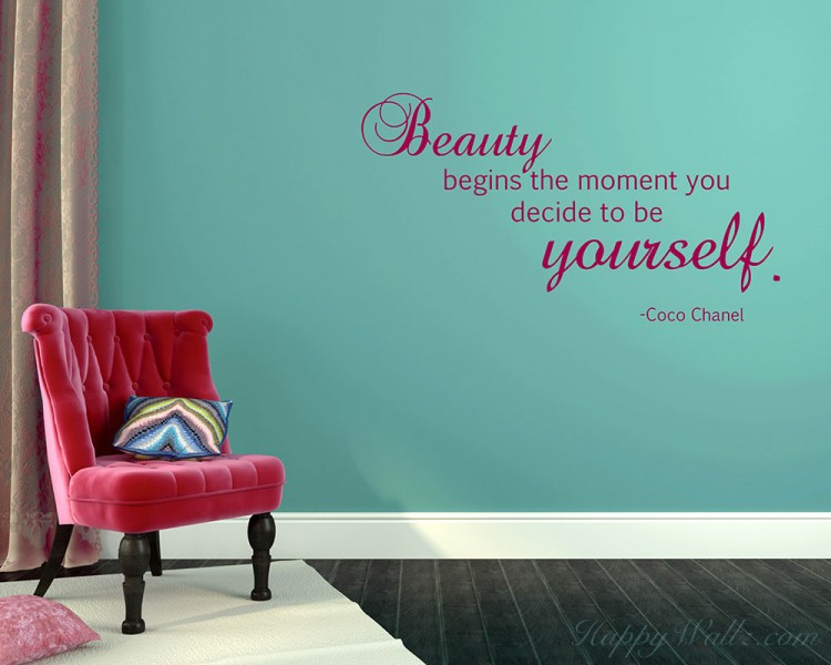 Beauty Begins Quotes Wall Decal