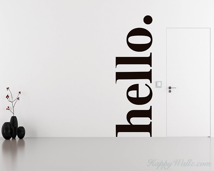 Hello - Welcome Quote Decal