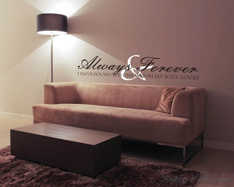 Always & Forever Quotes Wall Decal Love Quote Vinyl Art Stickers