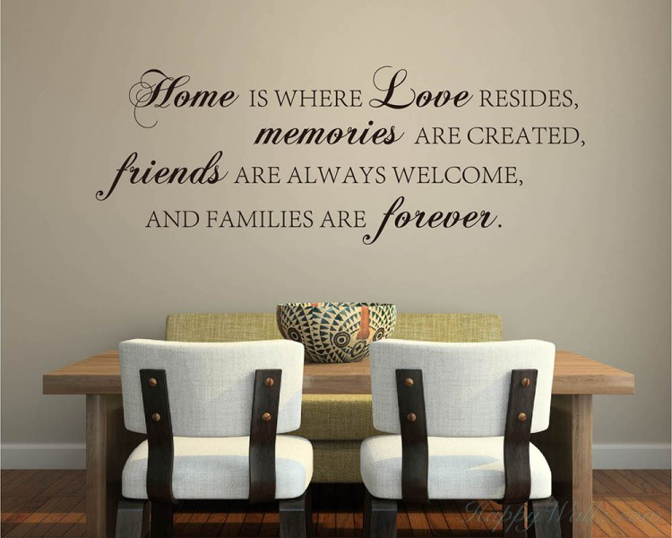 Home is Love, Memories, Friends and Forever