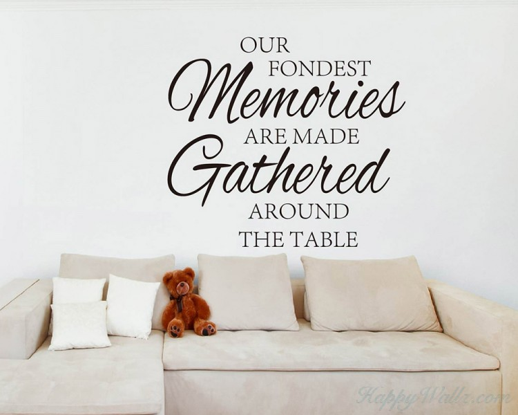 Our fondest memories are made gathered around the table