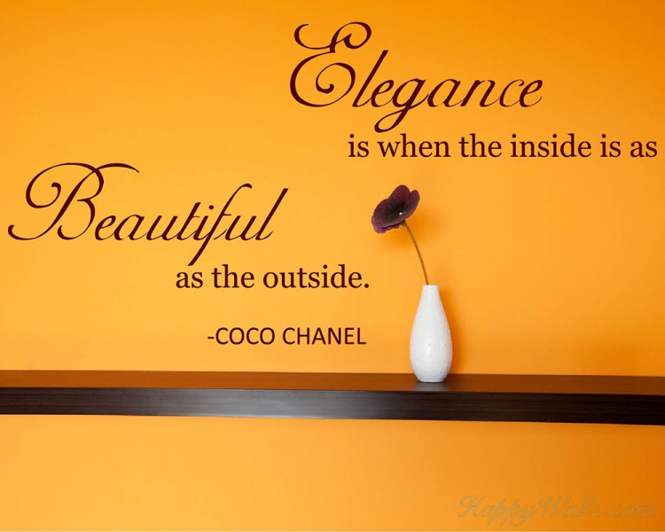 Elegance Quotes Wall Decal