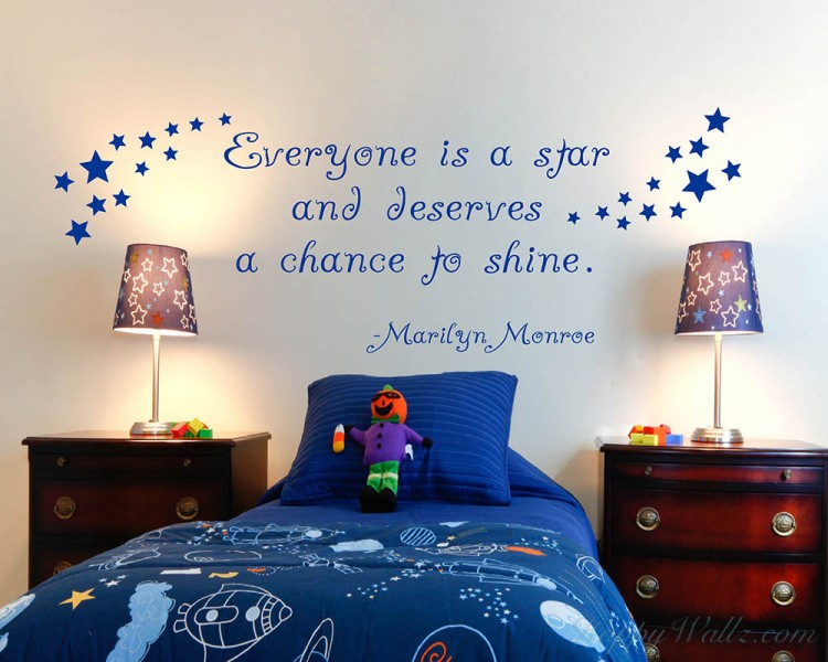 Everyone is a Star Quotes Wall Decal