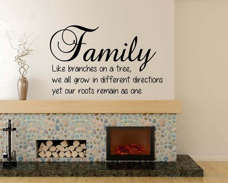 Family Quotes Wall Decal