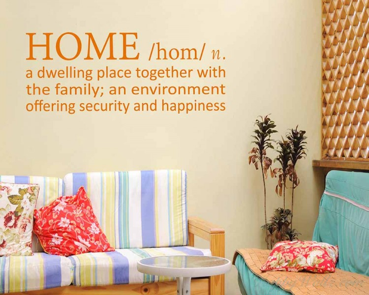 Home Definition Quotes Wall Decal