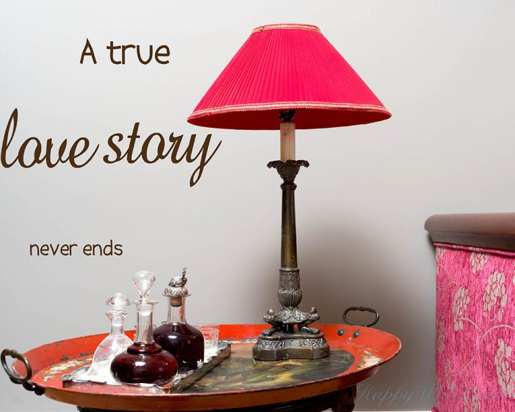 A True Love Story Quotes Wall Decal