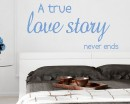 A True Love Story Quotes Wall Decal Love Vinyl Art Stickers