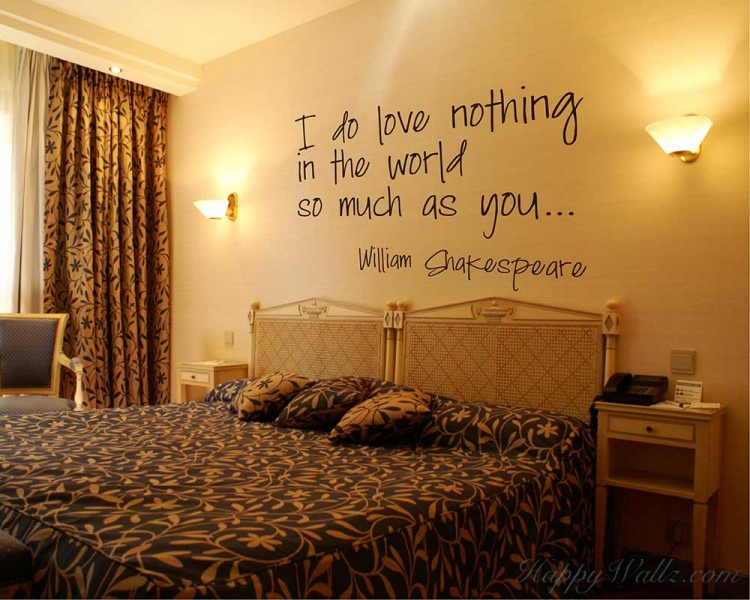 I Do Love -- William Shakespeare Quotes Wall Decal