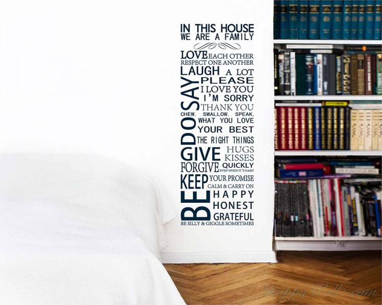 In This House Quotes Wall Decal