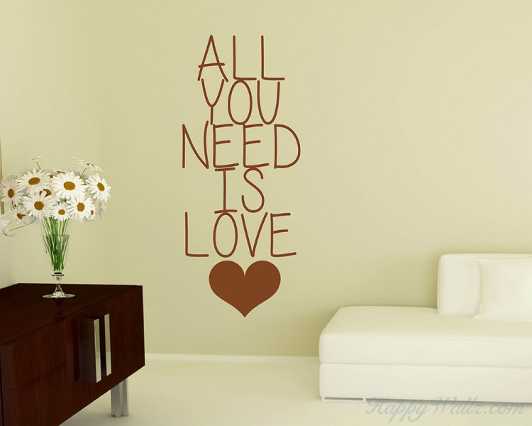 All You Need Quotes Wall Decal