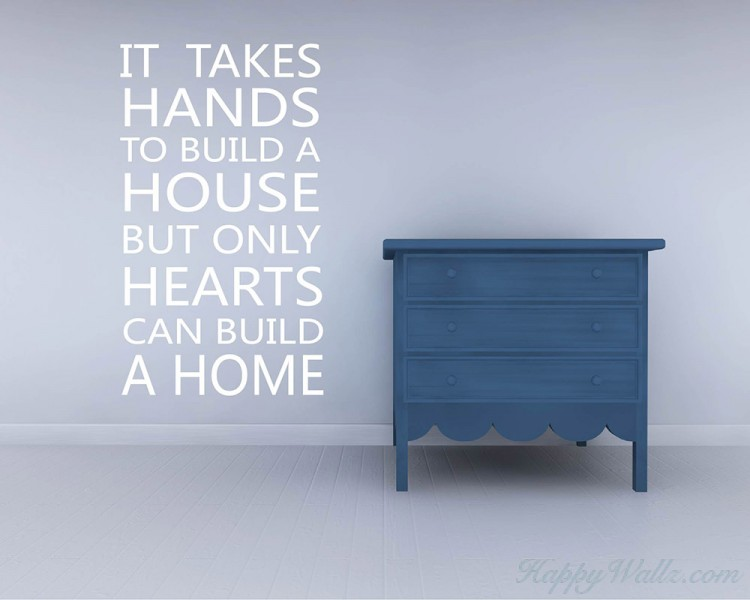It Takes Hands Quotes Wall Decal