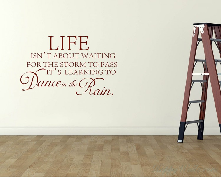 Life isn't About Quotes Wall Decal