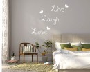 Live Laugh Love Quotes Wall Decal Motivational Vinyl Art Stickers