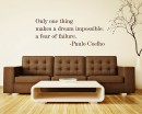 Only One Thing Quotes Wall Decal Motivational Vinyl Art Stickers