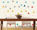 Triangle Pattern Wall Decal Nursery Modern Vinyl Sticker