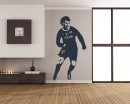 Famous Football Player Vinyl Decals Silhouette Modern Wall Art Sticker