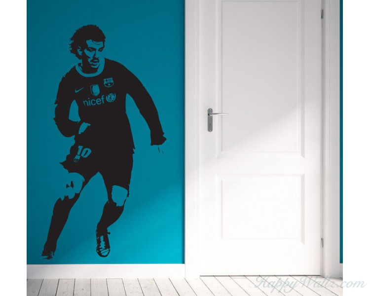 Famous Soccer Player Silhouette Vinyl Decal