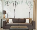 Large Birch Tree Wall Decal - Set of 3 Vinyl Tree Art Stickers