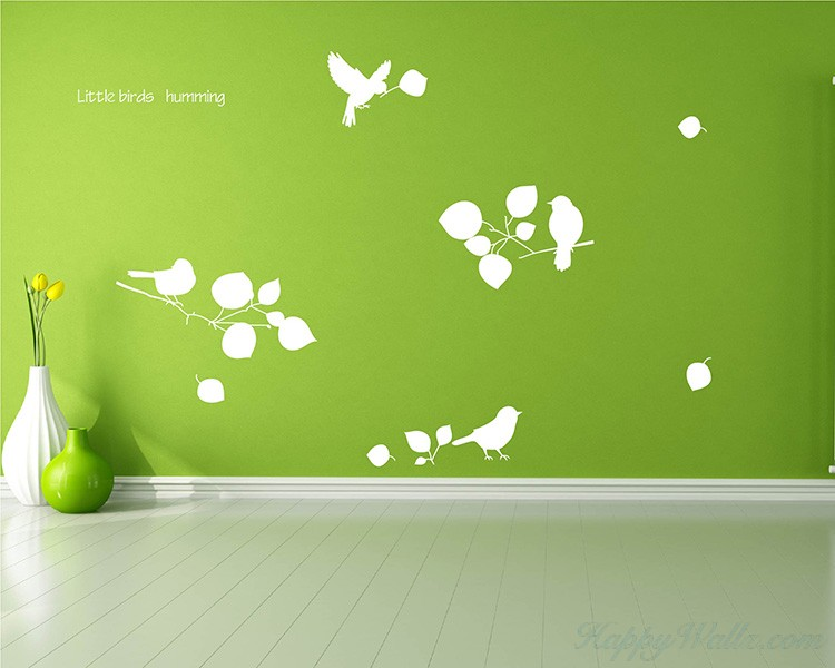 Branches, Birds and Leaves Wall Decal