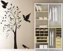 Tree with Birds Wall Decal Vinyl Tree Art Stickers