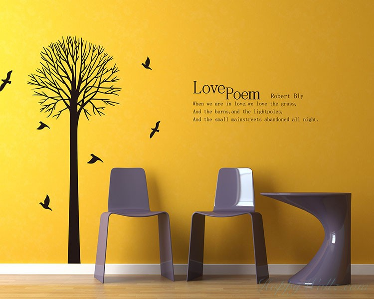 Tree with Love Quotes Wall Decal