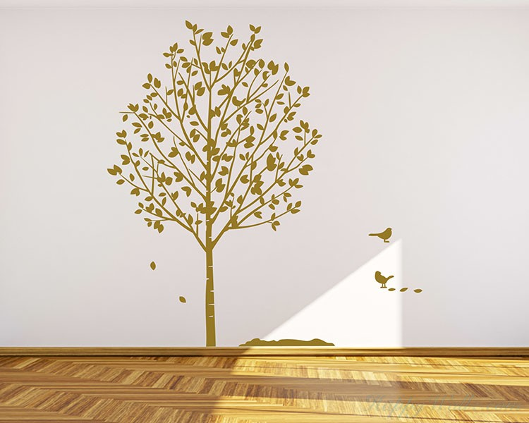 Popular Tree with Birds Wall Decal