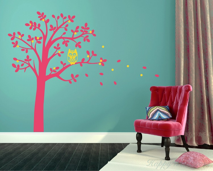 Tree and Owl Wall Decal