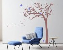 Tall Tree Wall Decal with Birds - Nursery Vinyl Tree Art Stickers