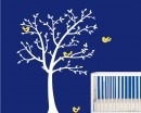 Tree and Lovely Birds Wall Decal Nursery Vinyl Tree Art Stickers