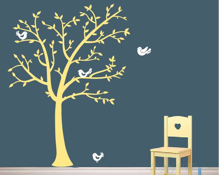 Tree and Lovely Birds Decal