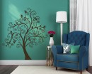 Scroll Tree Wall Decal Vinyl Tree Wall Art Stickers
