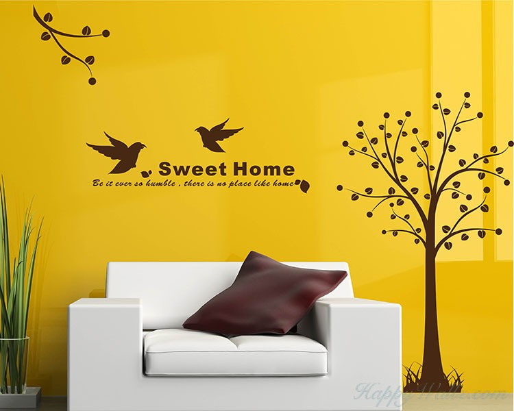Tree with Bird Wall Decal