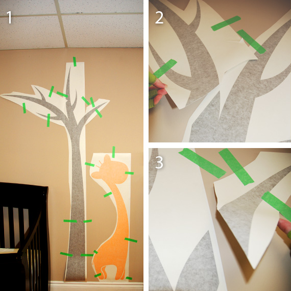 Large Tree Wall Decal installation